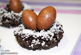 Resultado de imagen de huevos de pascua de chocolate