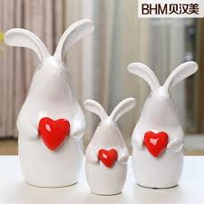 Rabbit Decorative Accessories Creative decorative home accessories TV cabinet decoration ceramic 53