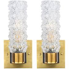 murano cut glass wall sconces  jean marc fray