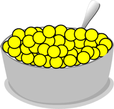 bowl of cereal clipart. Wonderful Clipart Clip Art Library Stock Bowl Of Yellow Cereal Clip Art At Clker In Clipart M