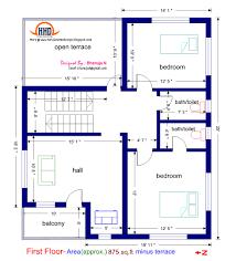 house plans below 2000 sq ft elegant kerala style 3 bedroom single floor house plans of