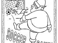 Christmas List Coloring Page With Soccer Santa Printable Free Idea