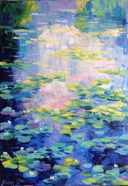 saatchi art artist nataliia nosyk painting early morning over the waterlily pond