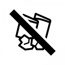 紙くず燃えるゴミを捨るの禁止のシルエット 無料のaipng白黒