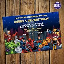 superheroes party invites marvel party invitations cimvitation