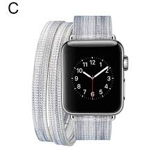 ipm ipm leather double wrap apple watch band strap with fun colors 42mm d aqua white com