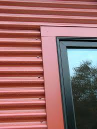 best corrugated steel siding images on steel cladding corrugated steel detail with window frame corrugated steel