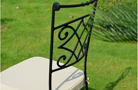 wrought iron chair outdoor patio free washable cushion diamond