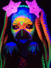 neon uv blacklight face painting makeup