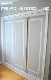 painted closet door ideas. Painted Sliding Closet Doors Faux Trim Effect, Closet, Painting Door Ideas I