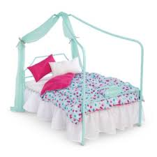 Canopy Bed & Bedding | American Girl
