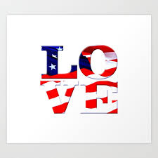 american flag word art love america is comprised of the word love w american flag overlay