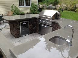 outdoor kitchen polished concrete countertops