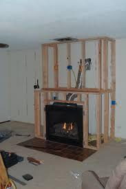 diy gas fireplace surround