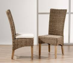 image of unique good indoor wicker dining chairs