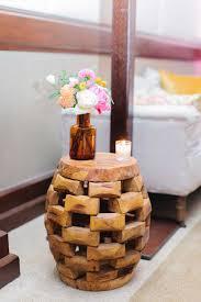 wood barrel furniture. Teak Wood Barrel Table Furniture I