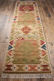 bikaner indian kilim rug 75 x 240cm