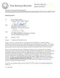 Certificate Of Residency Letter