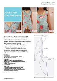Japanese Apron Pattern Inspiration Free Pattern Tutorial And Sewing Video Cross Back Apron For Adult