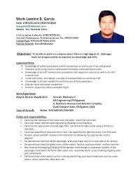 Aircraft Mechanic Resume Examples Aviation Structural Maintenance ...
