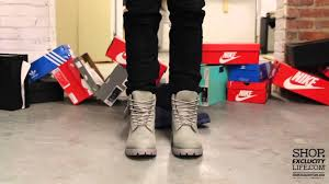Timberland 6 Inch Light Grey Timberland 6 Inch Mono Grey On Feet Video At Exclucity