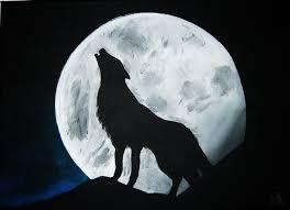 Dessin De Loup A La Pleine Lune L