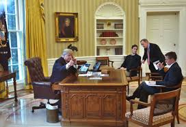 oval office white house. Interesting Office US President Donald TrumpLseen Through An Oval Office Window Gives A  Thumbs With White House