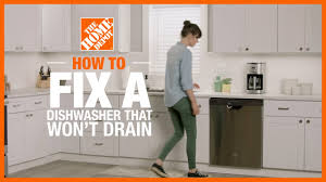 fix a dishwasher that s not draining