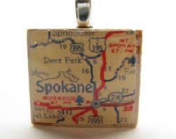 spokane gonzaga etsy Gonzaga Map Spokane spokane, washington 1950s vintage scrabble tile map gonzaga campus map spokane