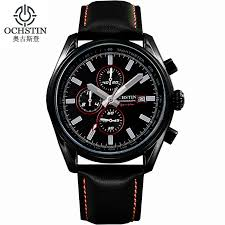 popular expensive watches brands buy cheap expensive watches ochstin expensive brand watches luminous leather running mens sport watches men waterproof military army calendar chronograph