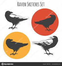 вектор тату ворона вектор ворон или черный ворон птица чернил