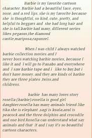My Favourite Story Essay Essay On My Favourite Cartoon Character Barbie In English
