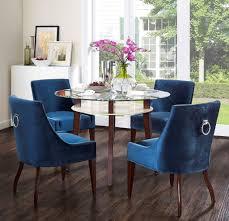 tov furniture modern dover blue velvet chair set of 2 dining chairs tov furniture minimal modern 1