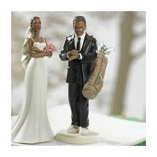 Golf Fanatic Groom And Bride Cake Toppers Jena Richards Weddings