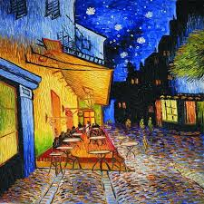 cafe terrace at night by vincent van gogh wall canvas prints oil painting reions street scenes