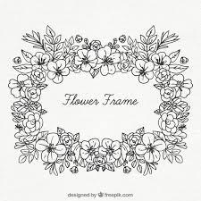 black and white fl frame free vector