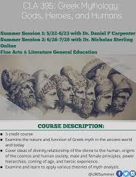 cla greek mythology uri summer sessions cla 395 greek mythology