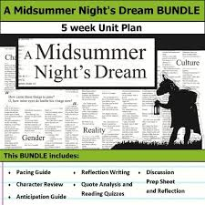 Midsummer Night\'s Dream Quotes Quiz Best of A Midsummer Night's Dream Unit 24 Weeks Of Lesson Plans Includes