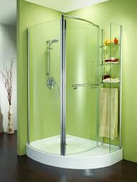 stylish corner shower doors in curved style
