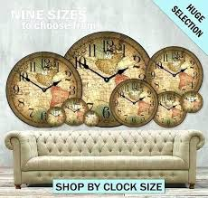 large retro wall clock large outdoor wall clock large wooden antique wall clocks oversized wall clocks