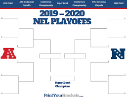 Nfl Playoff Bracket 2018 Chart Nfl Playoff Bracket 2019 2020 Printable