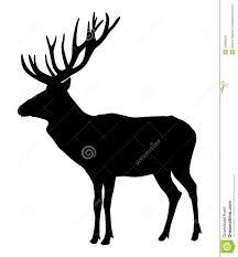 deer vector silhouette. royalty-free stock photo deer vector silhouette