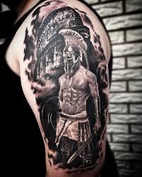 рисунок спартанца на плече мужчины фото рисунки эскизы