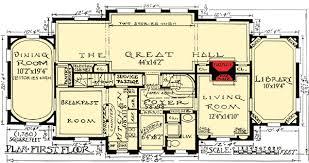 tudor house plans. I Like The Bathroom And Closet Near Entrance ~ Plan W11603GC: Impressive English Tudor House Plans