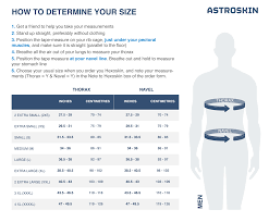 Mens Extra Small Size Chart Astroskin Size Charts Carre Technologies Inc Hexoskin