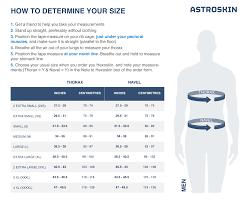 Astroskin Size Charts Carre Technologies Inc Hexoskin