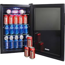 Undercounter Beverage Refrigerator Glass Door 84 Can Glass Door Beverage Center Refrigerator Compact Beer