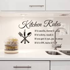 aliexpresscom  buy diy removable wall stickers kitchen rules