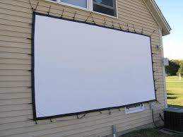 diy outdoor projector screen awesome how to set up your own outdoor home theater of 25