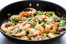 Skillet Shrimp and Asparagus Recipe ...